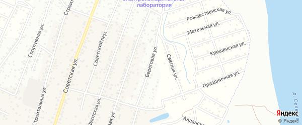 Береговая улица на карте села Поселье с номерами домов