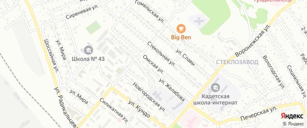 Омская улица на карте Улан-Удэ с номерами домов