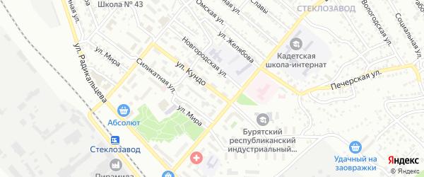 Переулок Кундо на карте Улан-Удэ с номерами домов