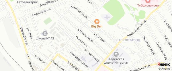 Стекольная улица на карте Улан-Удэ с номерами домов