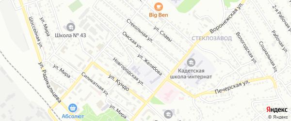 Улица Желябова на карте Улан-Удэ с номерами домов