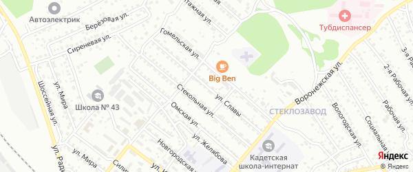 Улица Славы на карте Улан-Удэ с номерами домов