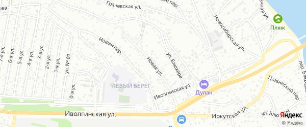 Новая улица на карте Улан-Удэ с номерами домов
