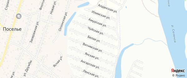 Белая улица на карте территории ДНТ Соснового с номерами домов
