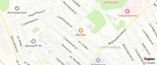 Гомельская улица на карте Улан-Удэ с номерами домов