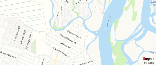 ДНТ Эдем Благодатная территория на карте Иволгинского района с номерами домов