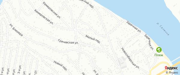 Малый переулок на карте Улан-Удэ с номерами домов