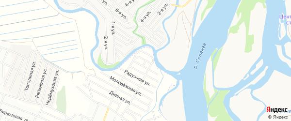 ДНТ Эдем Душистая территория на карте Иволгинского района с номерами домов