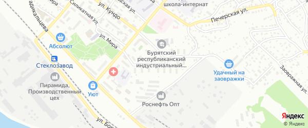 Хрустальная улица на карте Улан-Удэ с номерами домов