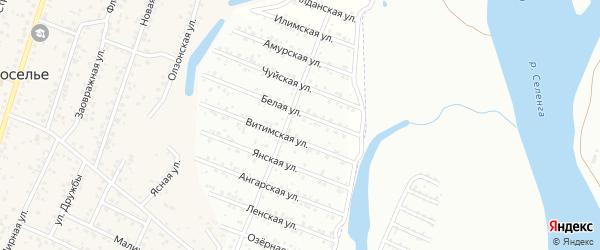 Ручейная улица на карте территории ДНТ Родника с номерами домов