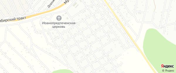 3-й квартал 1-я улица на карте территории СНТ Багульника с номерами домов