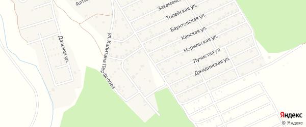 Ясногорская улица на карте дачного некоммерческого партнерства ДНТ Солнечное-1 с номерами домов