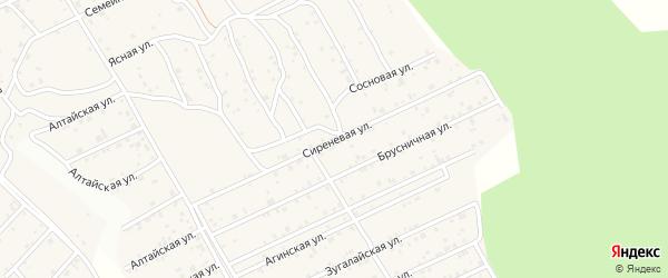 Сиреневая улица на карте дачного некоммерческого партнерства Жарки с номерами домов