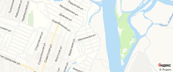 СНТ Снежный Узорная территория на карте Иволгинского района с номерами домов