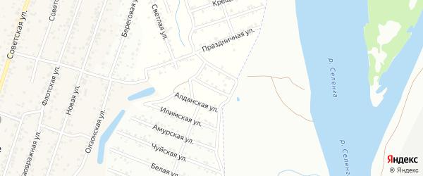 Байкальская улица на карте Улан-Удэ с номерами домов