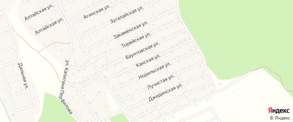 Канская улица на карте Улан-Удэ с номерами домов