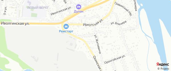 Пилорамный переулок на карте Улан-Удэ с номерами домов