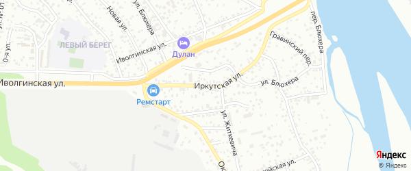 Иркутская улица на карте Улан-Удэ с номерами домов
