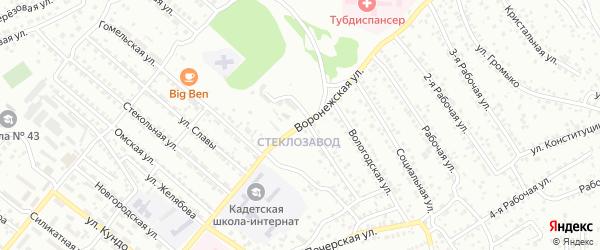 Воронежская улица на карте Улан-Удэ с номерами домов