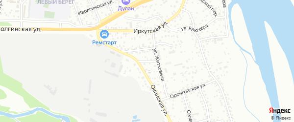 Окинский переулок на карте Улан-Удэ с номерами домов