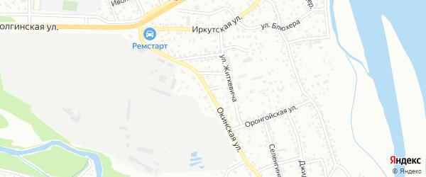 Оронгойский переулок на карте Улан-Удэ с номерами домов