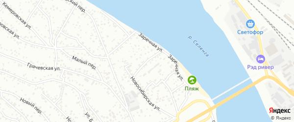 Заречная улица на карте Улан-Удэ с номерами домов