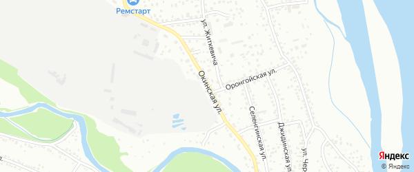Окинская улица на карте Улан-Удэ с номерами домов