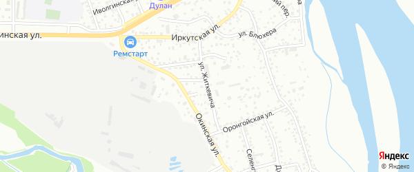 Улица Житкевича на карте Улан-Удэ с номерами домов