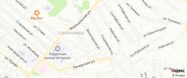 Вологодская улица на карте Улан-Удэ с номерами домов