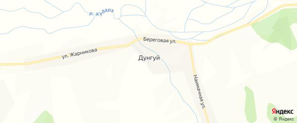Карта села Дунгуй в Бурятии с улицами и номерами домов