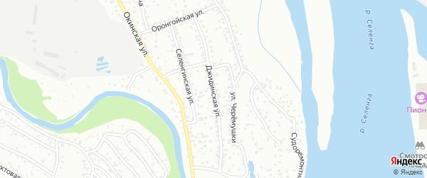 Джидинская улица на карте Улан-Удэ с номерами домов