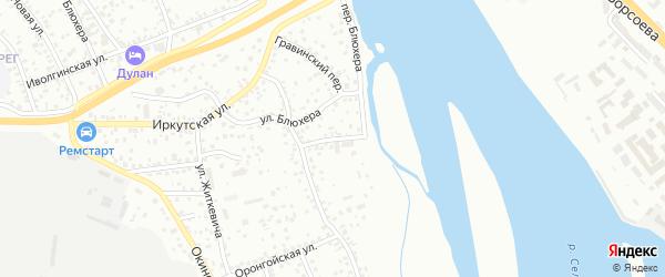 Привольная улица на карте Улан-Удэ с номерами домов