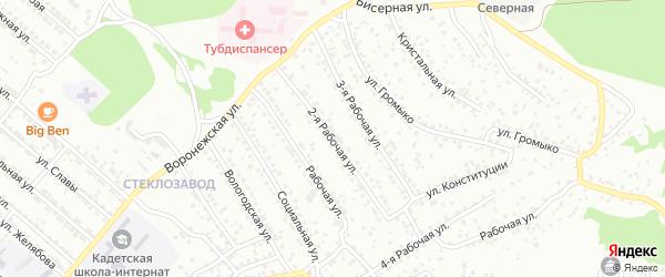 4кв-л 2-я улица на карте территории ДНТ Весны с номерами домов