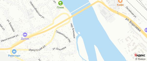 Переулок Блюхера на карте Улан-Удэ с номерами домов