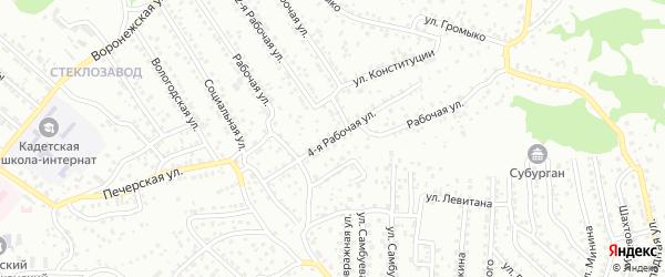 4-ая улица на карте территории СНТ Сибиряка с номерами домов