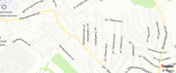 Улица Шарапова на карте Улан-Удэ с номерами домов