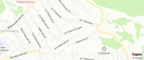 Улица Конституции (ДНТ Саяны) на карте Улан-Удэ с номерами домов