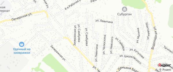 Улица Мэлса Самбуева на карте Улан-Удэ с номерами домов