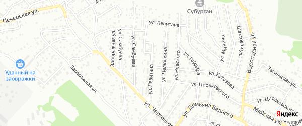 Улица Левитана на карте Улан-Удэ с номерами домов