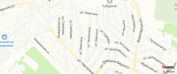 Улица Челюскина на карте Улан-Удэ с номерами домов