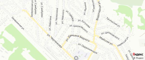 Улица Гайдара на карте Улан-Удэ с номерами домов