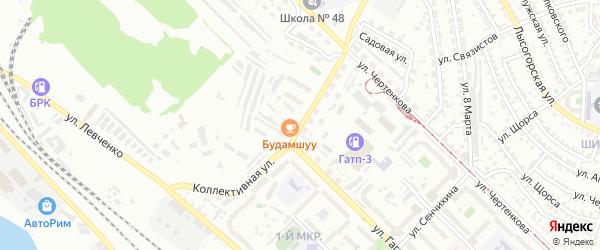 Коллективная улица на карте Улан-Удэ с номерами домов