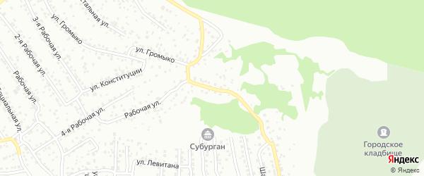 Рабочая 6-я улица на карте Улан-Удэ с номерами домов