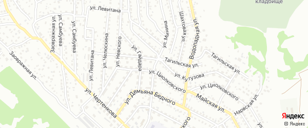 Улица Минина на карте Улан-Удэ с номерами домов