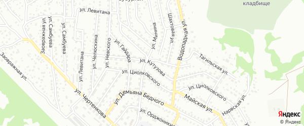 Улица Кутузова на карте Улан-Удэ с номерами домов