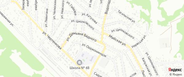 Улица Демьяна Бедного на карте Улан-Удэ с номерами домов