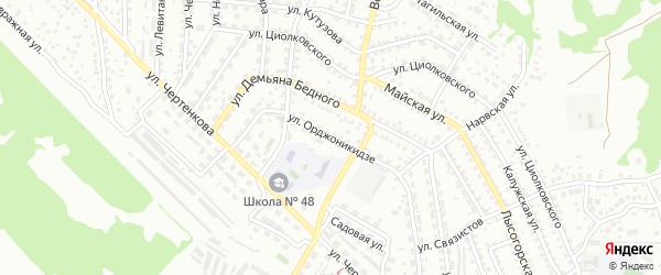 Улица Орджоникидзе на карте Улан-Удэ с номерами домов