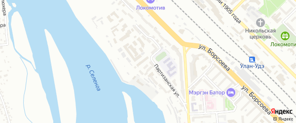 Водопроводная улица на карте Улан-Удэ с номерами домов