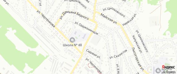 Улица Менжинского на карте Улан-Удэ с номерами домов