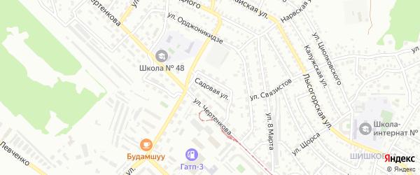 Садовая улица на карте Улан-Удэ с номерами домов